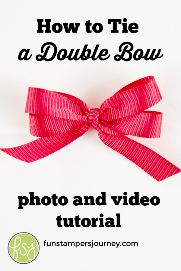 How to Tie a Double Bow #howtomakeabowwithribbon