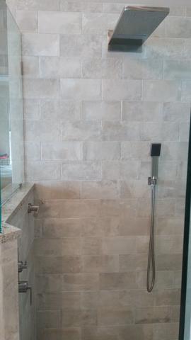 Lovely Jacksonville Bathroom Remodel (Tile: Emil Kotto Avana, Accent Mosaic:  Florida Tile Bliss