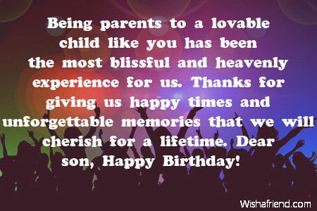 Being parents to a lovable brans 21st pinterest sons birthday surprise your son with some lovely birthday wishes post the best wishes from a bunch of wishes this is page 2 of son birthday wishes m4hsunfo Image collections