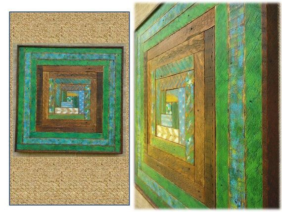 Rustic Wood Wall Hanging Sculptures - Reclaimed Lath Art -Large Decorative Textured Modern Abstract Wood Custom Log Cabin Quilt Designs