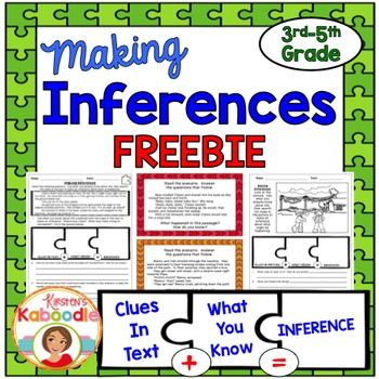 This Making Inferences FREEBIE product contains three sample items - Sample Cards