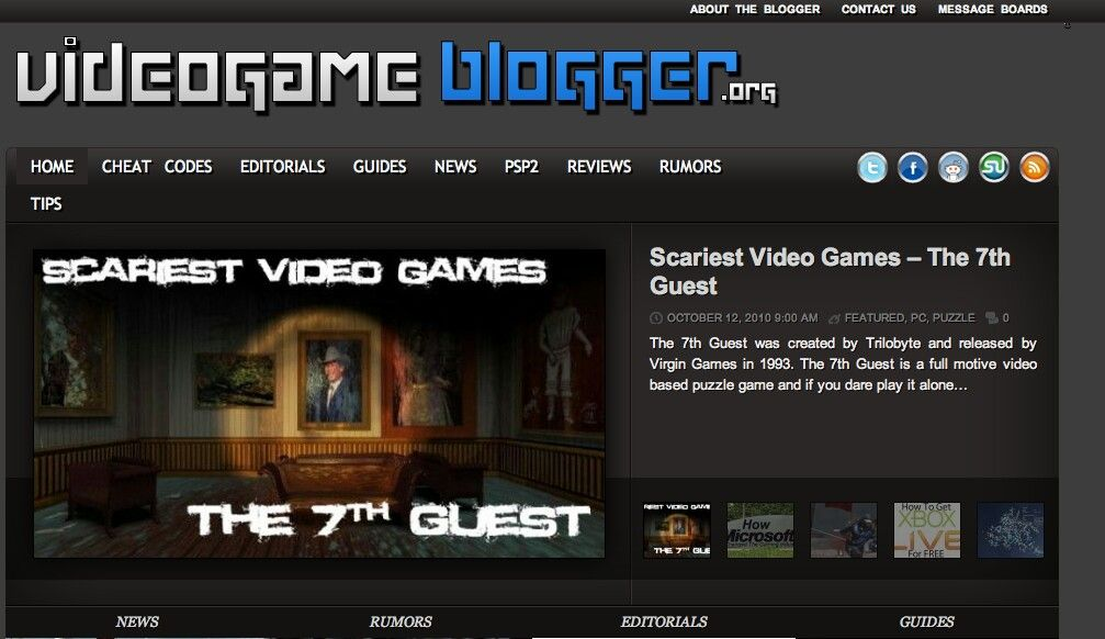 Video Game Blogger/Writer Job Scariest video games
