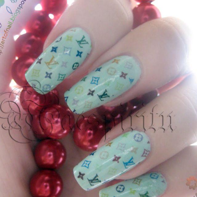 Louis Vuitton Nails | Mani/Pedi Art | Pinterest | Louis vuitton ...