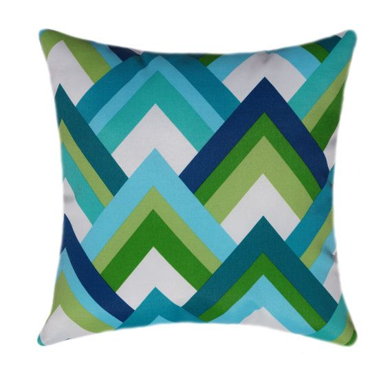 Lime Green and Navy LUMBAR Pillow Cover