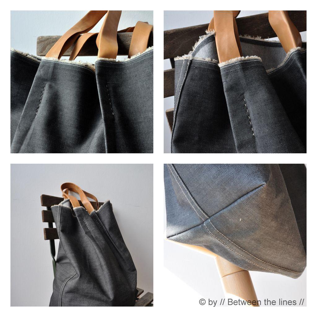 DIY: denim and leather bag