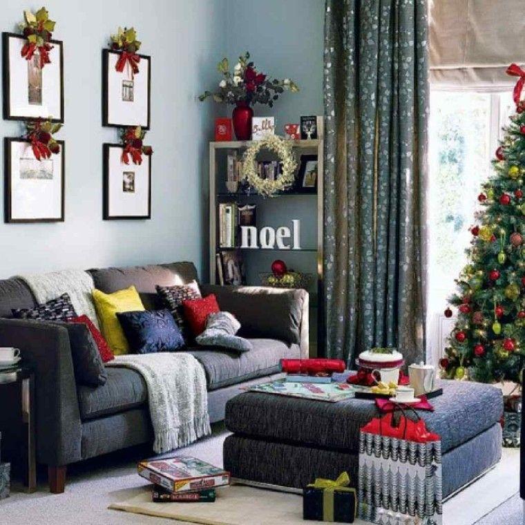 decoracion navidad ideas para decorar cuadros lazos moderno - contemporary christmas decorations