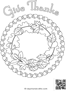 Adult coloring or digital stamp design #Thanksgiving leaves wreath ...
