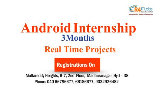 R4itlabs provides #Android internship with certificate. contact ...
