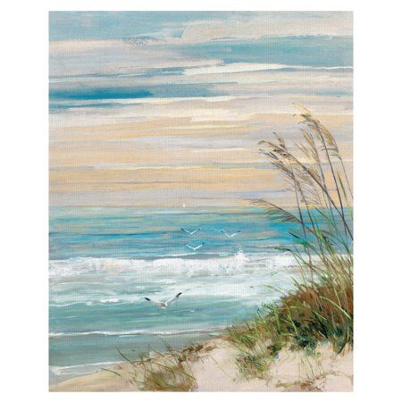 Beach at Dusk by Sally Swatland Wrapped Canvas Art Painting Print