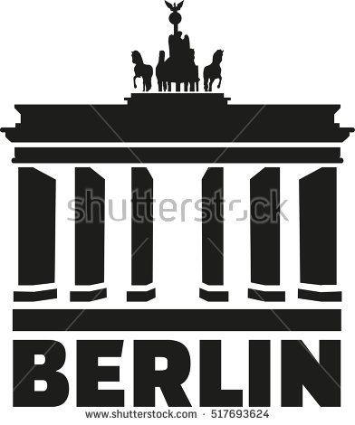 Berlin Brandenburg Gate Vektorgrafik Brandenburger Tor Berlin Berlin Brandenburg
