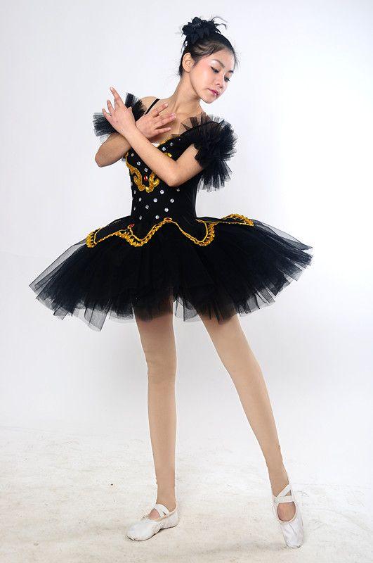 negro traje Ballet de mujeres de Ballet vestido tul de 2015 cisne de danza espectáculo adultos qaxntHEwC
