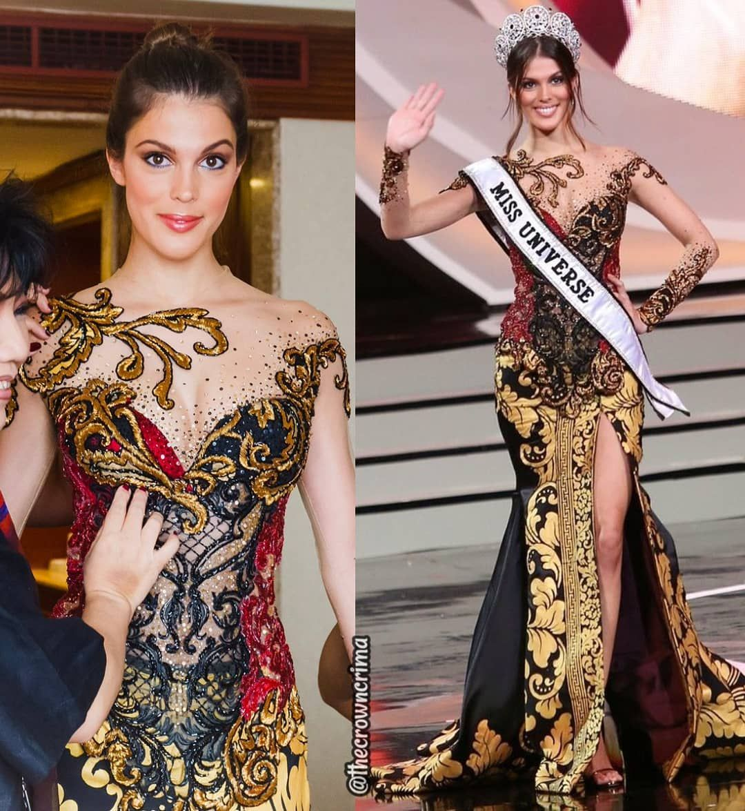 Crima On Instagram Iris Mittenaere Irismittenaeremf Miss Universe 2016 From France Wearing A Kebaya In The Final Of Puteri Indonesia 2017 She Loo Di 2020