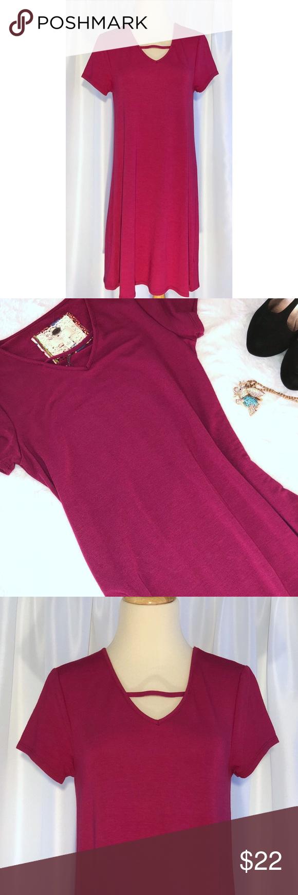92dfd089de 💲🔟SALE NWT Magenta Swing T-shirt Cutout Dress NWT Cupio Cutout Swing T