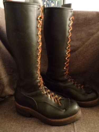 Vintage Hoffman Boots 10 D 16 034 Tall Logger Lineman