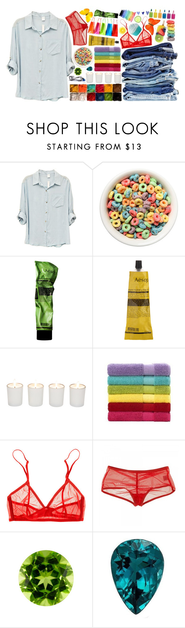 """""""Live life bright"""" by let-it-out ❤ liked on Polyvore featuring MAKE UP FOR EVER, Aesop, Witchery, Only Hearts and colorful"""
