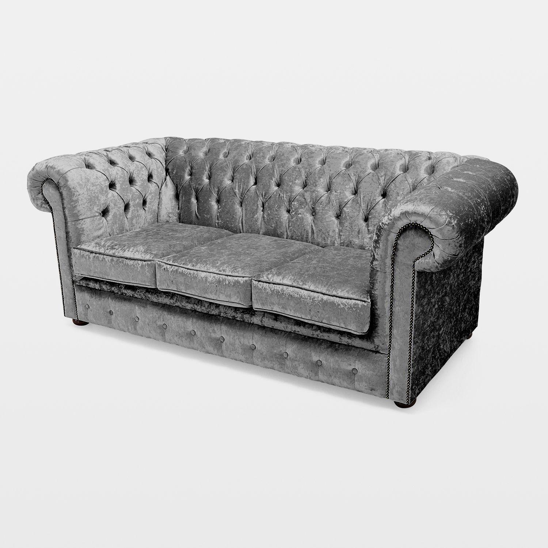 Belvedere Chesterfield 3 Seater Crushed Velvet Sofa Next Day