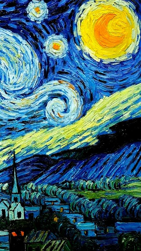Van Gogh Painting Cute Wallpapers Starry Nights Van Gogh Wallpaper Starry Night Van Gogh Van Gogh Art