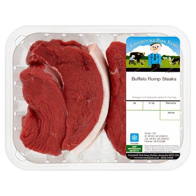 Laverstoke Park Buffalo rump steak available at Ocado.