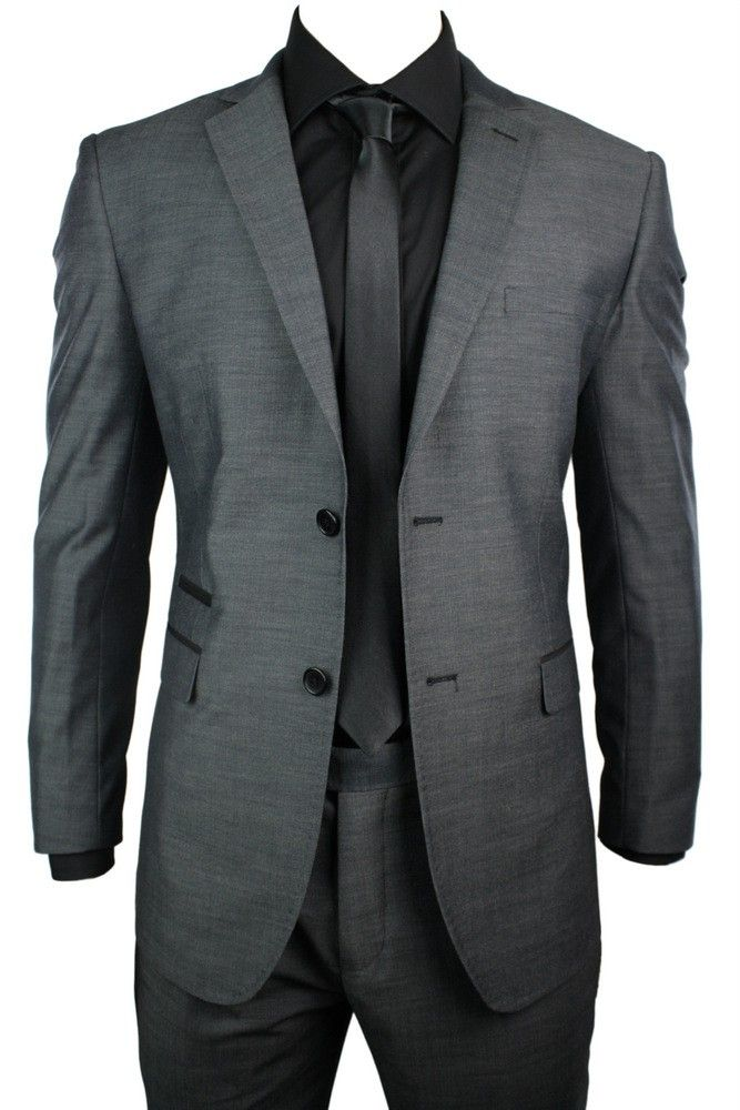 Charcoal And Black Suit | My Dress Tip