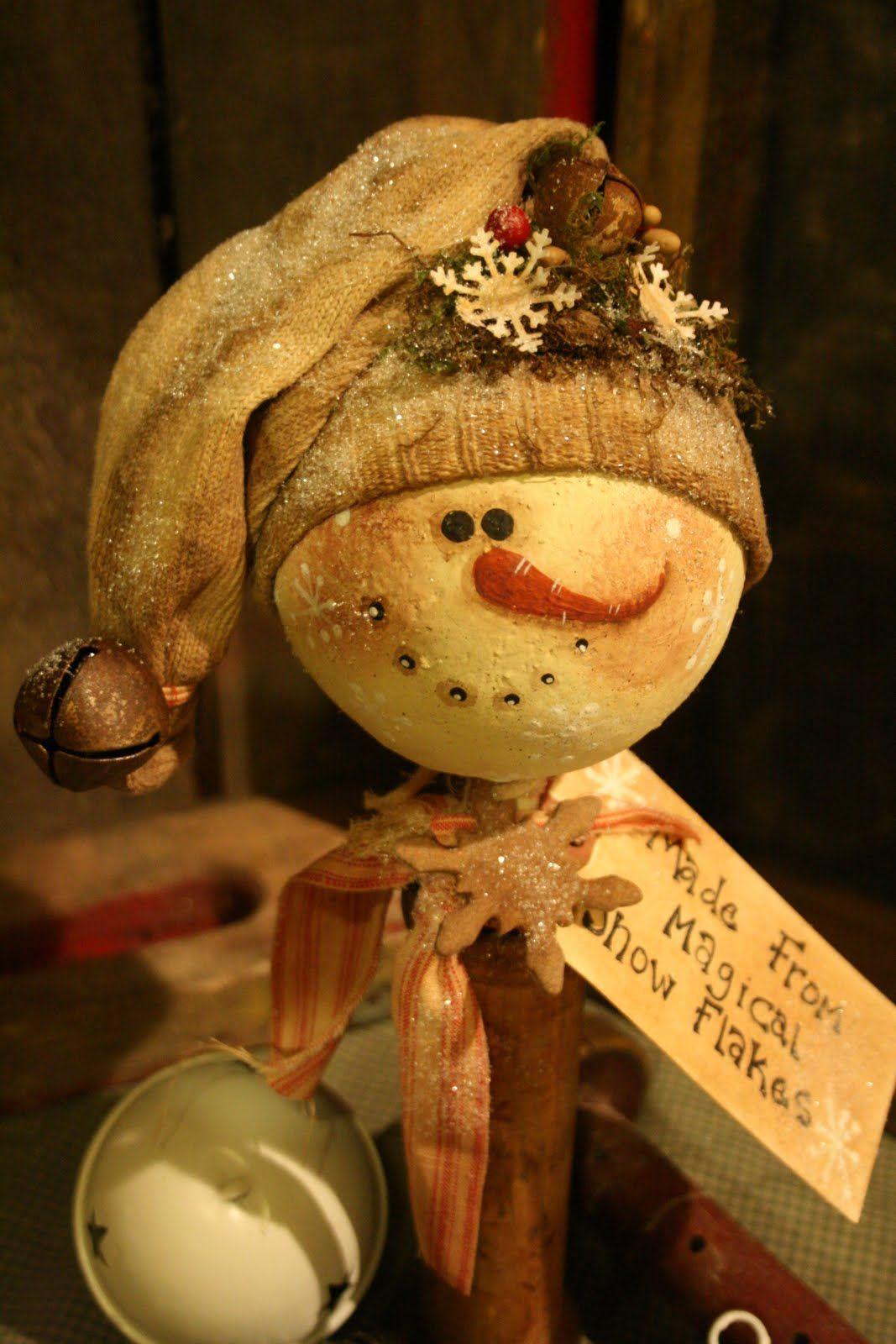 The Old Cupboard Door Snowman... | crafts | Pinterest ...