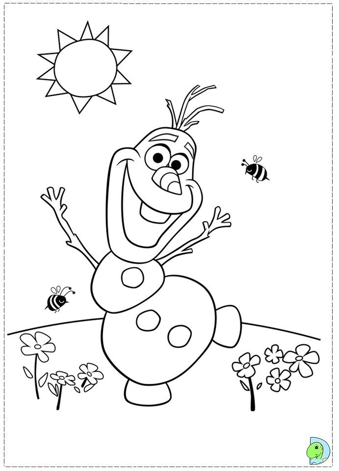 Frozen Character Coloring Pages Olaf