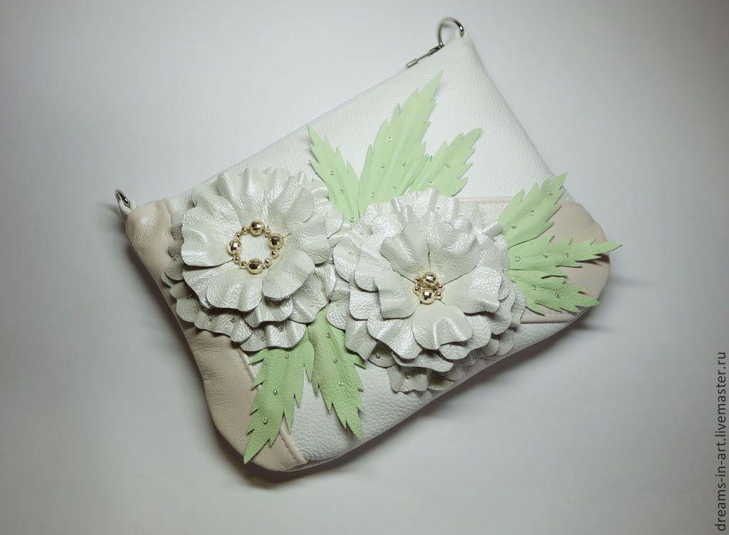 """Купить Кожаная сумочка """"Невеста"""" - кожаная женская сумка, сумочка мини, подарок девушке женщине"""