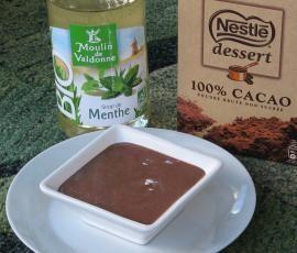 Recette Petit pot de crème chocolat/menthe par lilas35 - recette de la catégorie Desserts & Confiseries