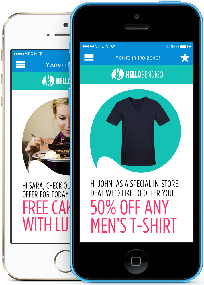 Examples of #GUI from #iBeacon enabled App HelloLocal