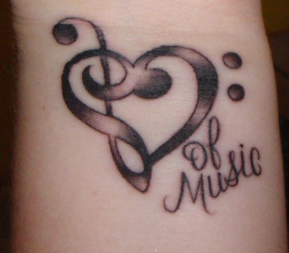 Tattoo Designs Related To Music: Too Late, Music