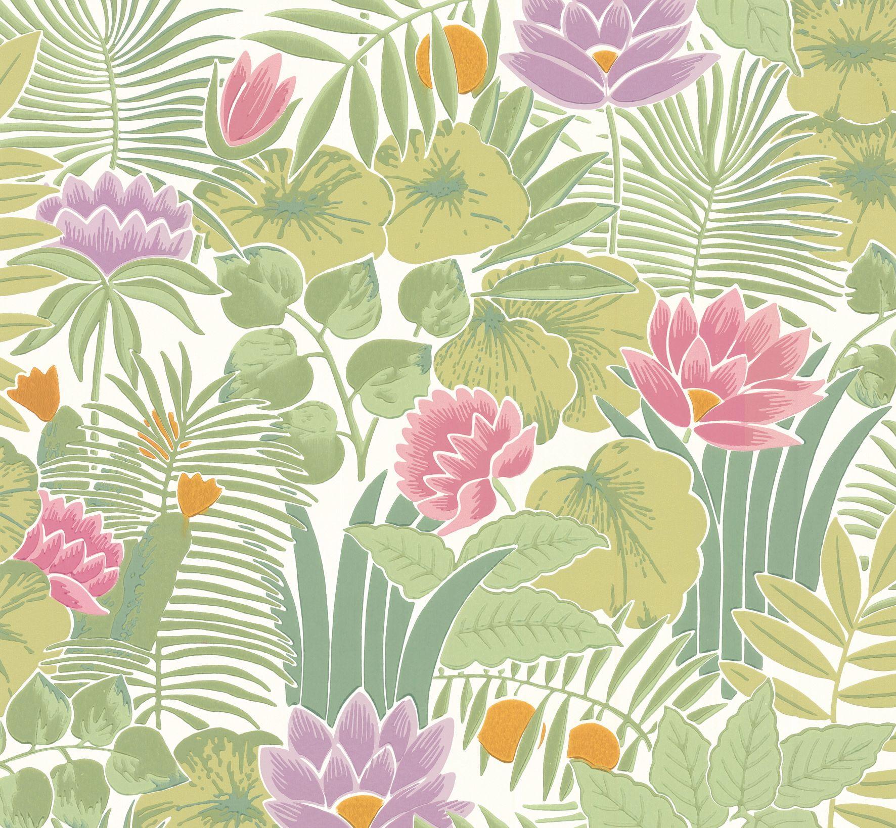 #LittleGreene - Collection Retrospective Papers - papier peint Reverie coloris jardin - Little Greene www.littlegreene.fr/