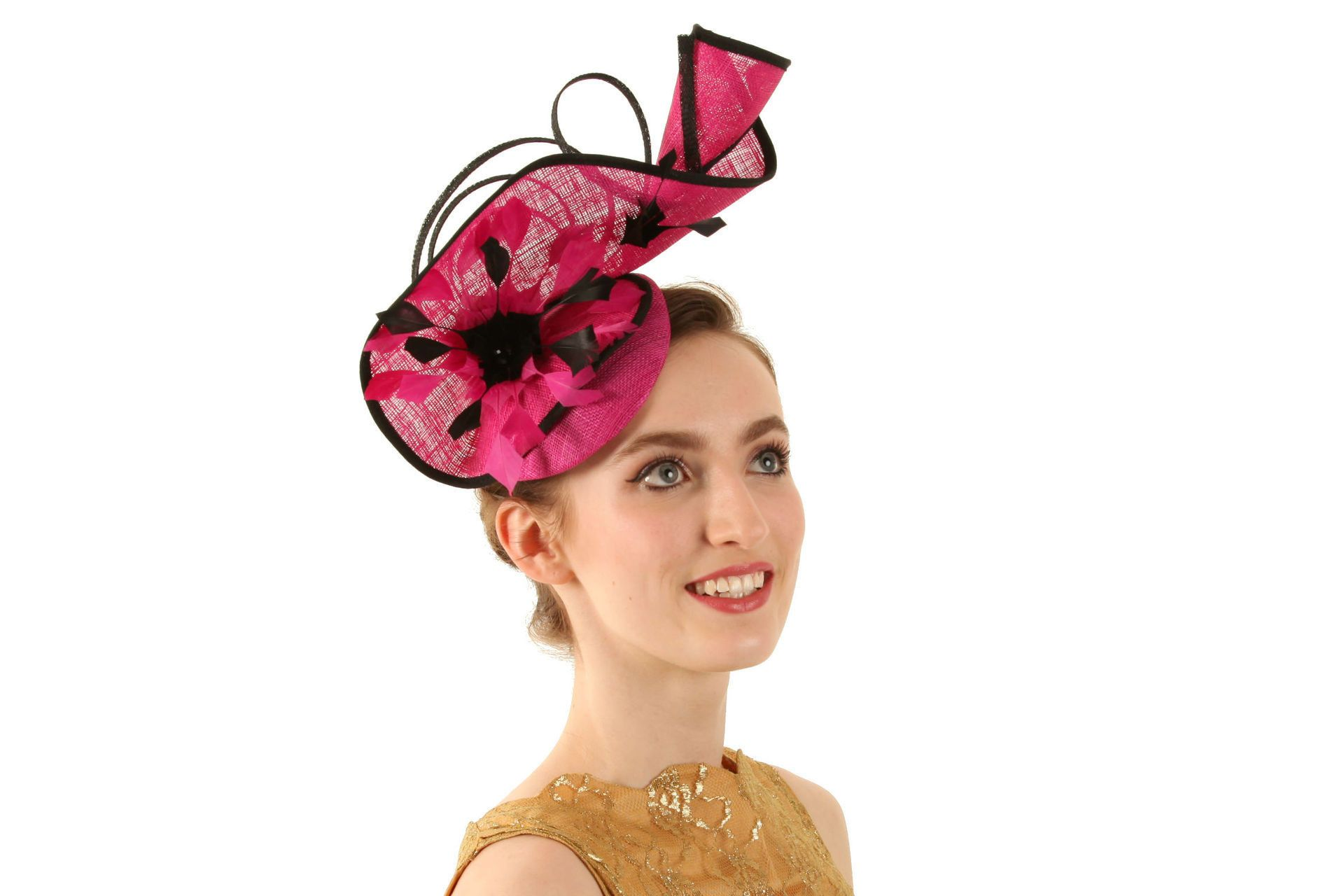 Black and Pink Peter Bettley Fascinator - Tegen Accessories - Perfect for  formal events e1f6ea229cc