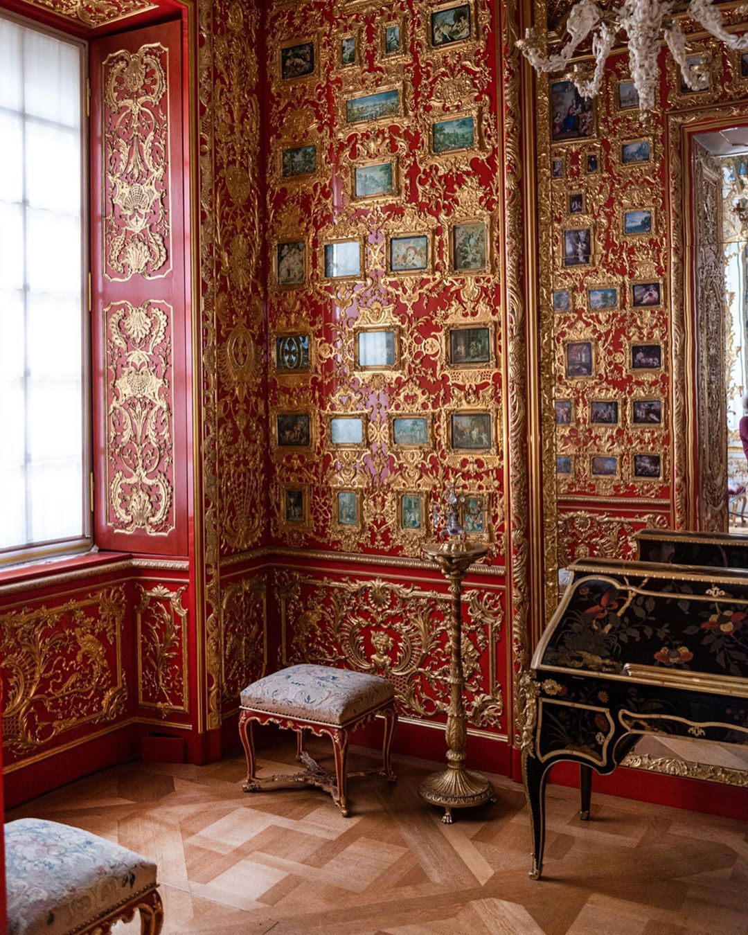 The Vogel Miniatures Cabinet In The Munich Residenz The Former Royal Palace Of The Wittelsbach Monarchs Of Bavaria Historical Interior Rococo Style Munich