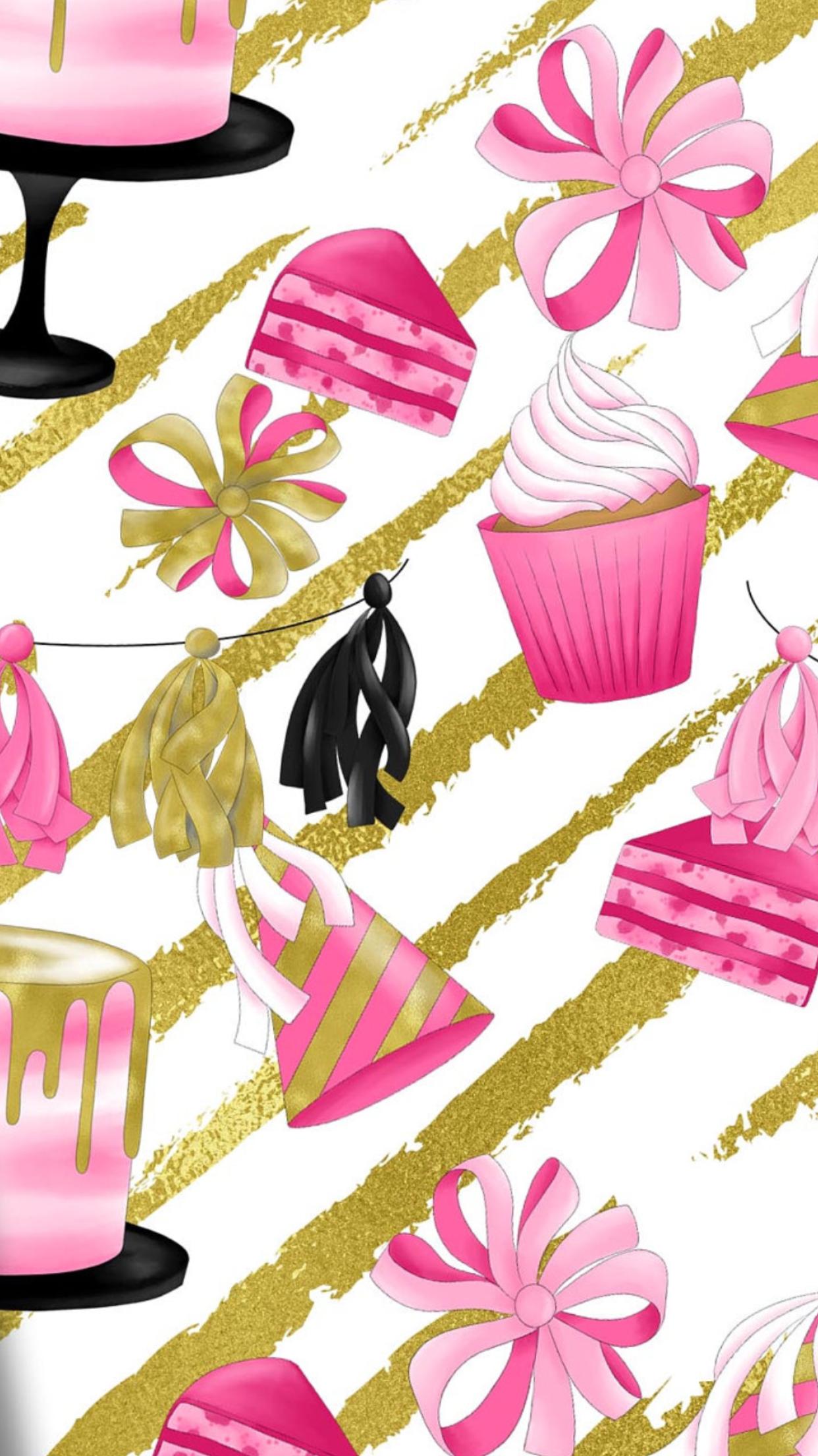 Wallpaper iPhone Pink wallpaper iphone, Happy birthday