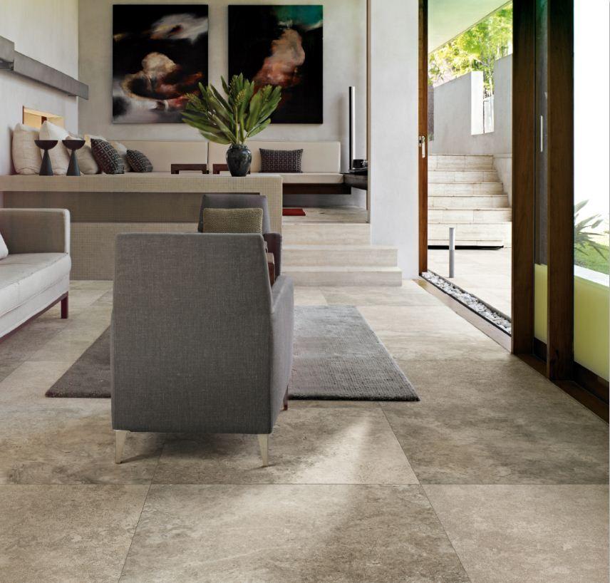 velvet platinum porcelain tiles from