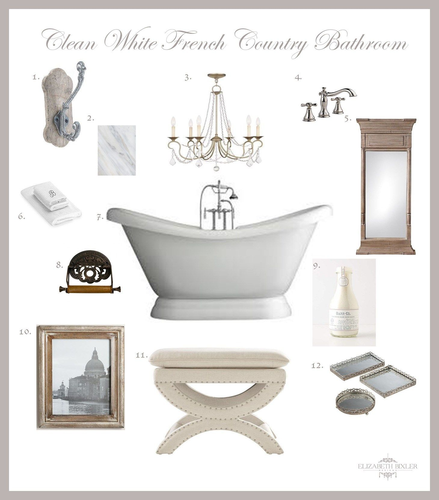 French Country Bathroom Design Collage - | Master bathrooms, Collage ...