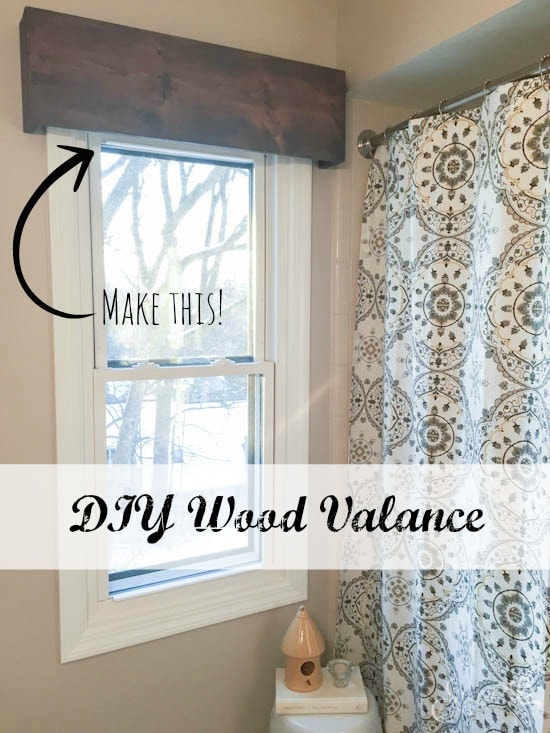 Wood Valance Sypsie Designs Wood Valance Bathroom Window