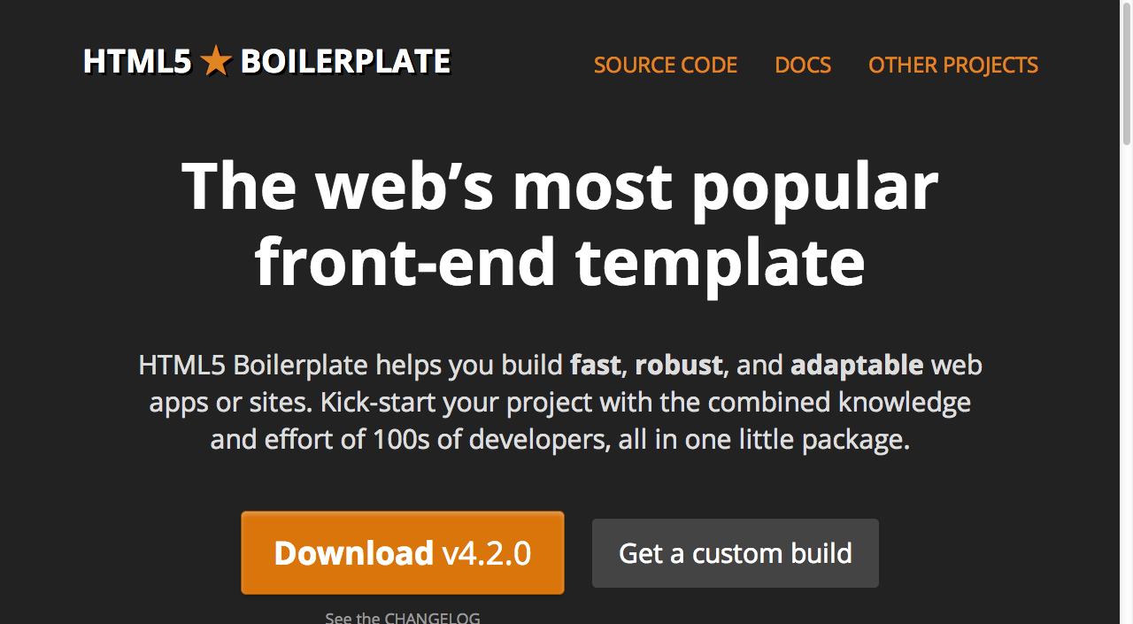 freebie: HTML5 Boilerplate: The web\'s most popular front-end ...