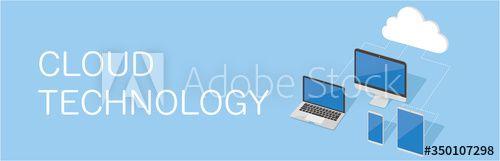 Stock Image: Cloud computing concept