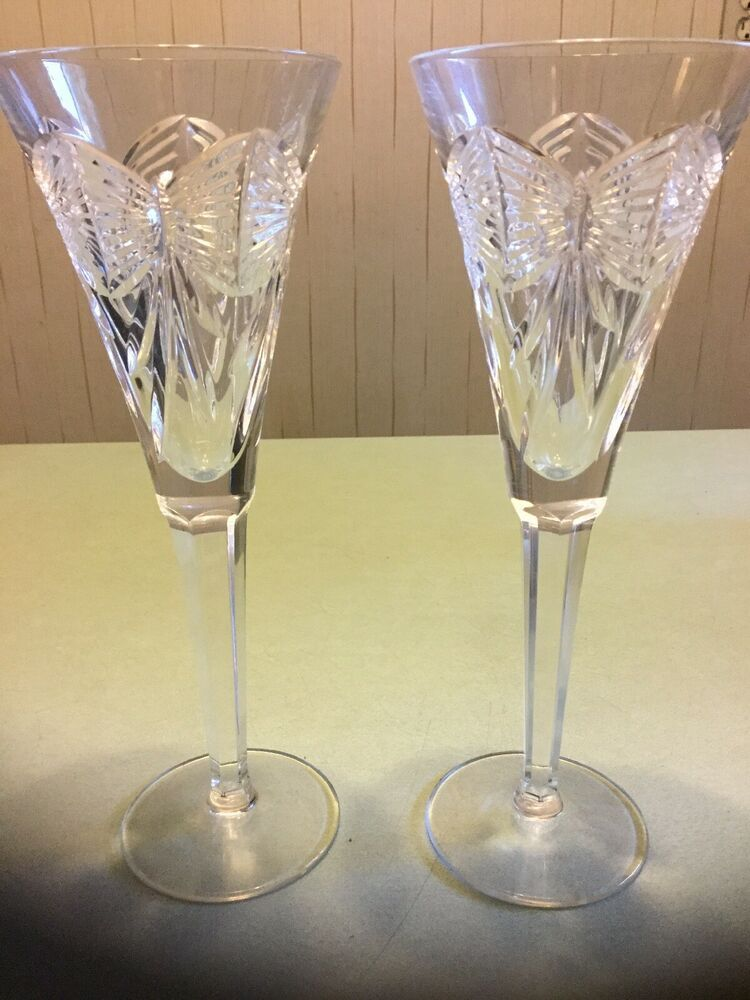Waterford Crystal Millennium Happiness Champagne Flute Bow Ribbons Waterford Waterford Crystal Champagne Flute Crystal Flutes