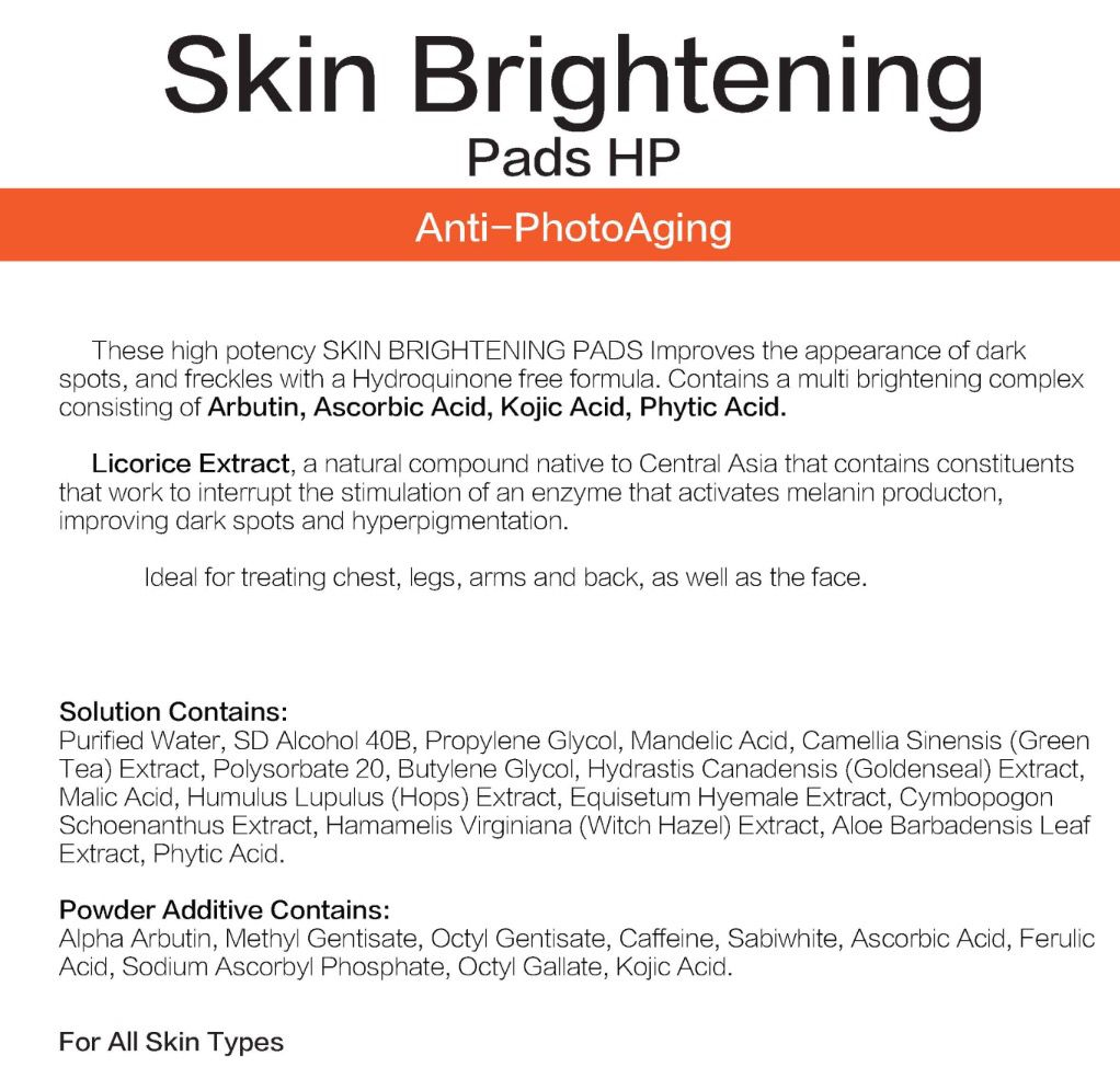 Skinspa By Ivona Medical Skin Care Products Skin Brightening Pads Medical Skin Care Skin Brightening Skin Care