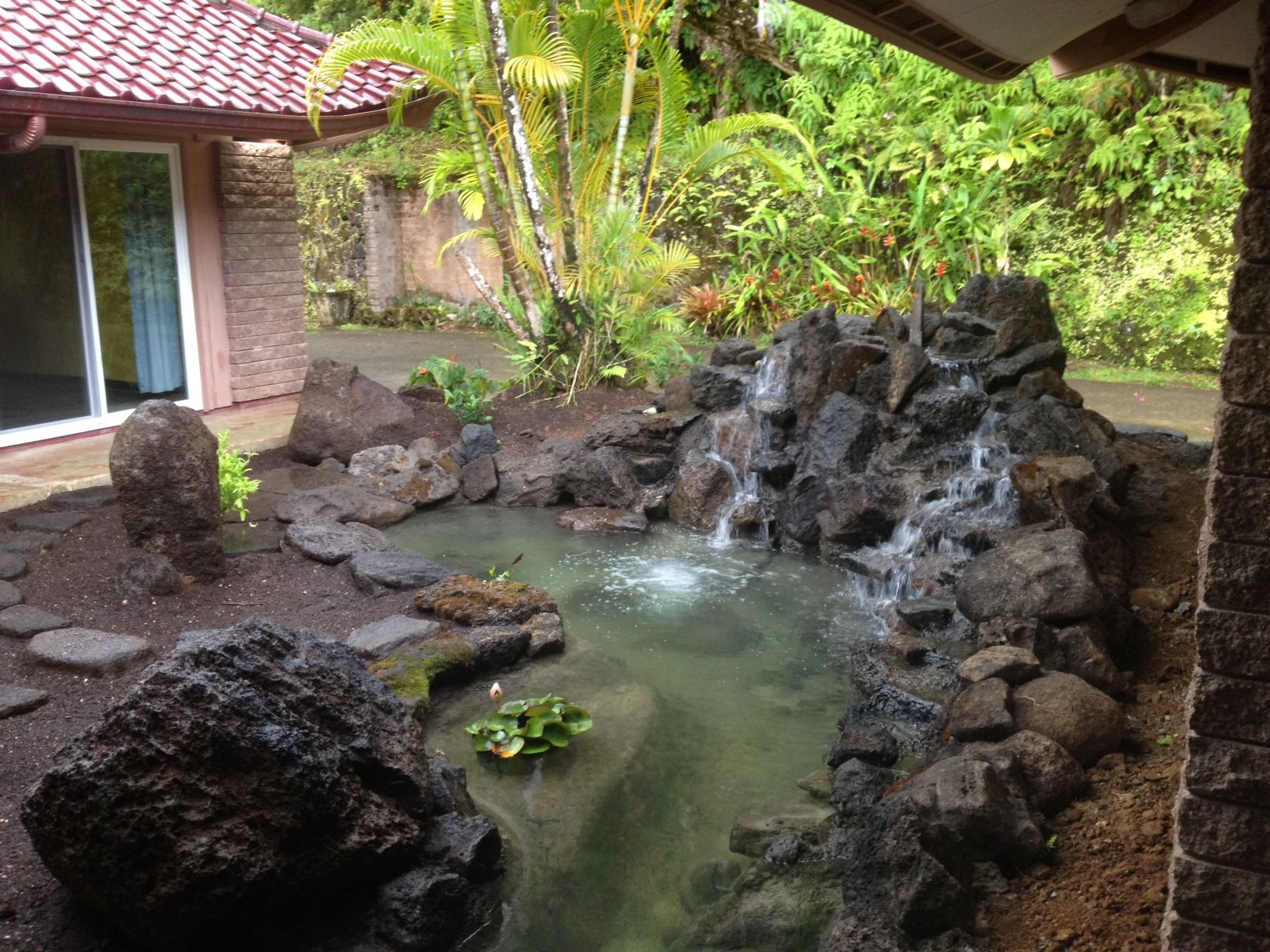 The Pond Digger builds in Hawaii Koi ponds Ponds