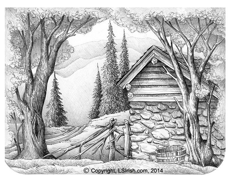 Lora irish stone barn drawing crafts plaster carving
