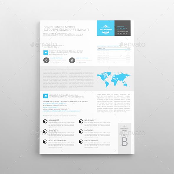 Executive Summary Template A By Keboto  Graphicriver  Executive