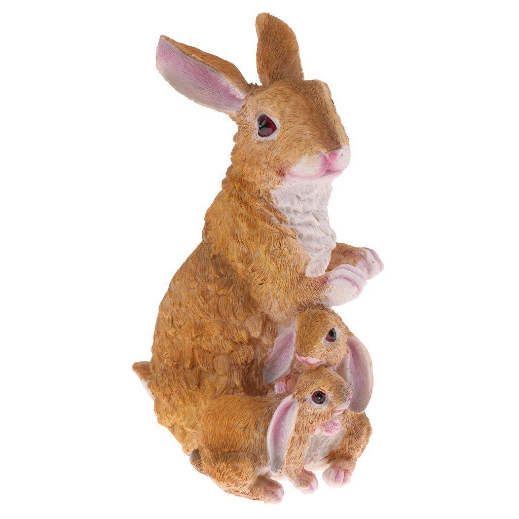 New Bunny Rabbit Indoor Outdoor Garden Resin Animal Statue Ornament Figurine