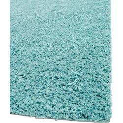 Photo of benuta Essentials Hochflor Shaggyteppich Swirls Hellblau 240×340 cm – Langflor Teppich für Wohnzimme
