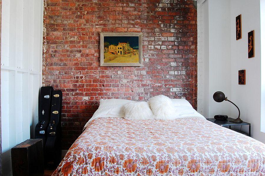 50 Delightful and Cozy Bedrooms with Brick Walls Bedroom