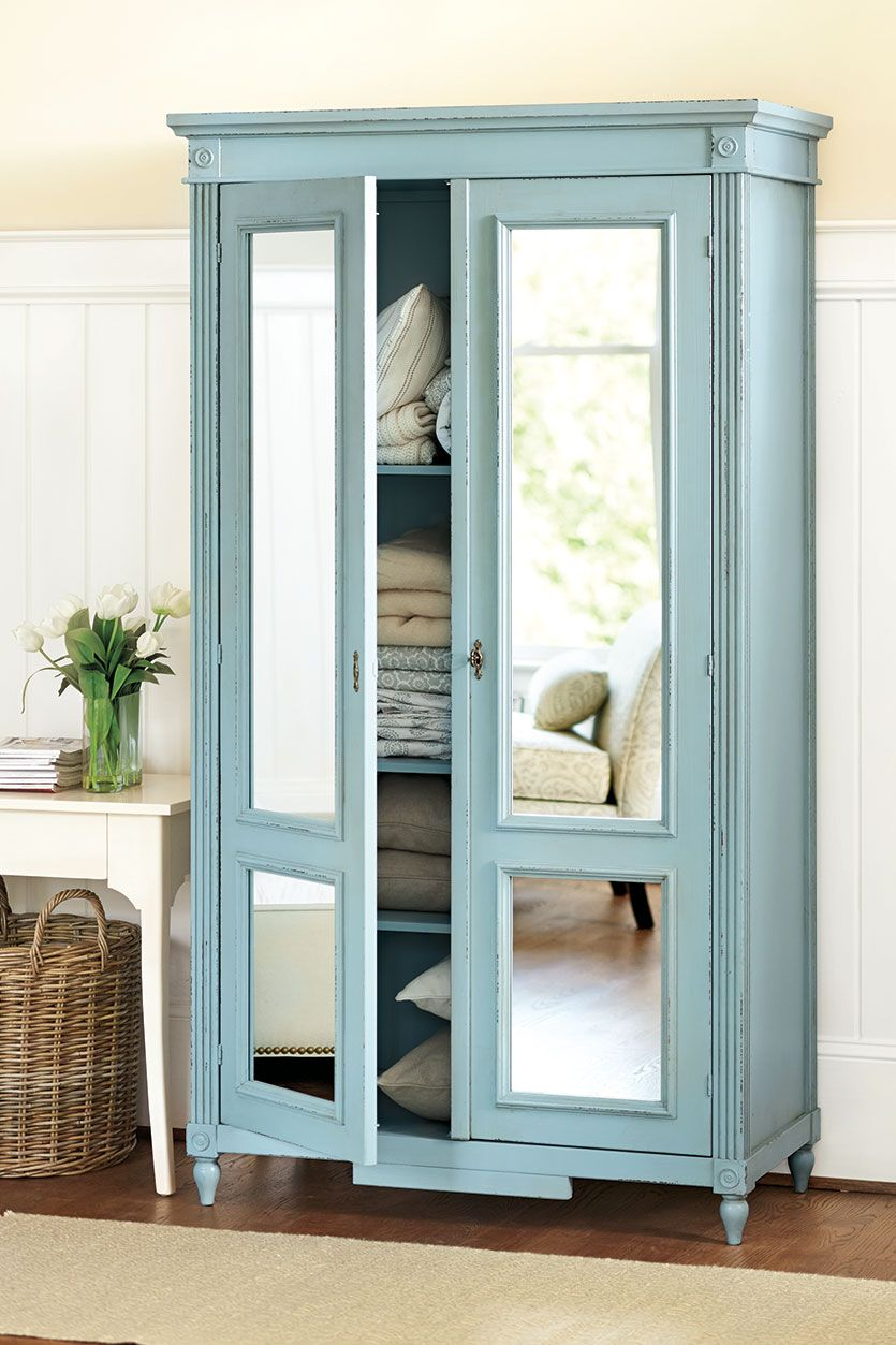 How To Decorate With Casa Florentina Armoire Diy Armoire Makeover Mirrored Armoire