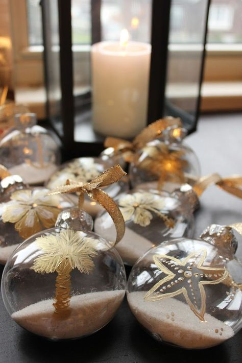 Diy Tropical Decorations With Inexpensive Clear Plastic Ornaments