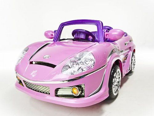 new pink mp3 kids ride on rc remote control power wheels car rc ride