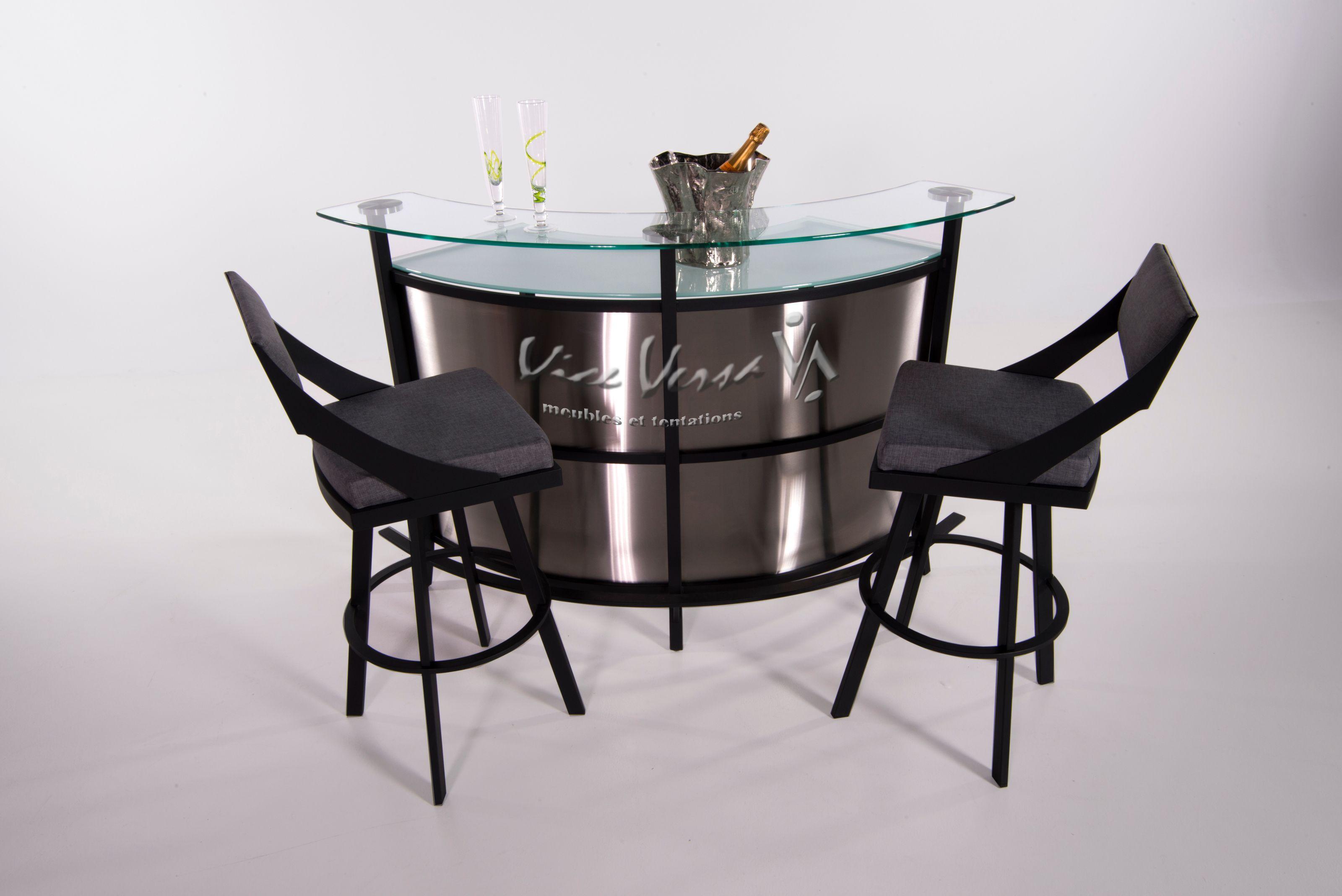 Meuble vice versa table de bar et emsemble de chaises pour la cuisine ou le salon meuble - Meuble bar pour salon ...